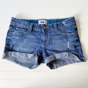 Paige Jimmy Jimmy Distressed Denim Jean Shorts